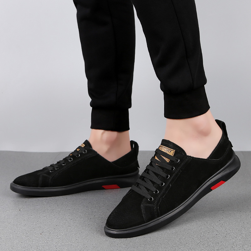 Luxury Brand Men   suede     Leather   Shoes outdoor Spring Autumn Shoes Oxfords Fashion Casual Dress Shoes Man Business Lace-up shoes 5