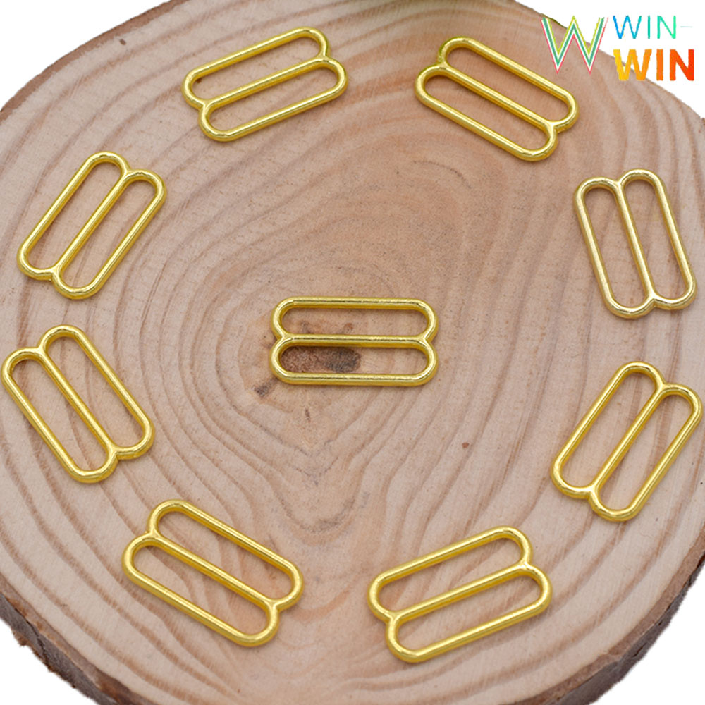 Wholesale 3000 pieces gold adjustment sliders of various sizes for bra production