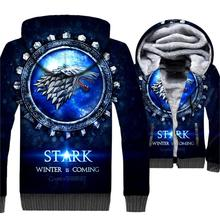 Winter Is Coming 3D Jacket For Men 2019 Autumn Game Of Thrones Mens Sweatshirt Harajuku Hoody House Stark Wolf Hip Hop Hoodies