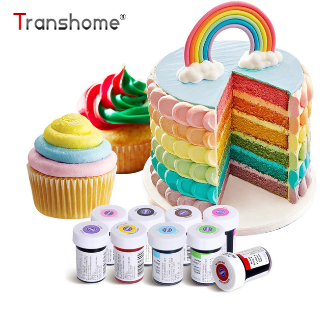 Transhome Food Coloring Macaron Fondant Cake Decorating Tools Baking ...