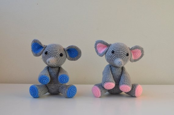 Elephant Amigurumi - Free Crochet Pattern • Craft Passion | 377x570