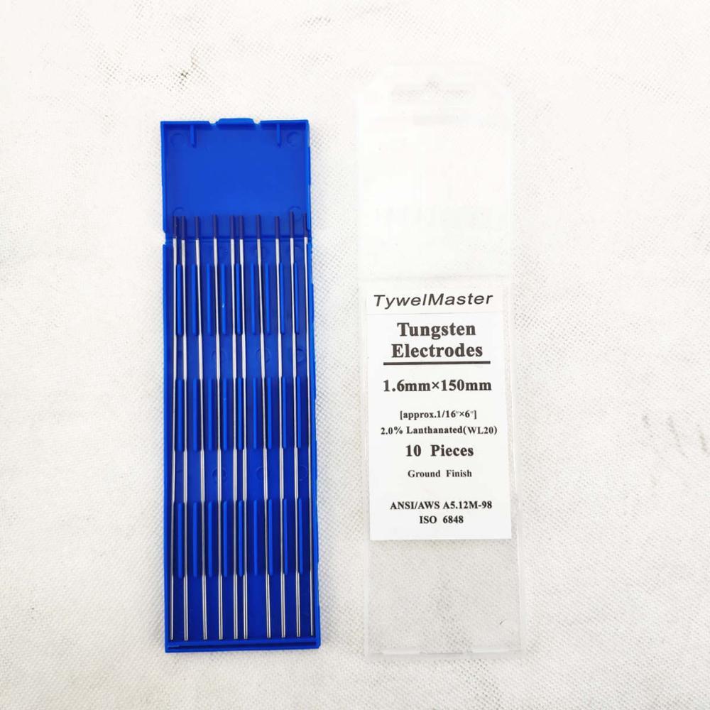 WL20 вольфрамовый электрод Профессиональный Tig стержень 1,0 1,6 2,0 2,4 3,0 3,2 4,0 мм для опции 2.0% Lanthanated для сварочного аппарата Tig