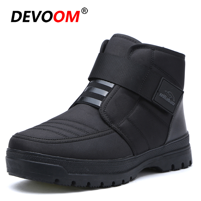2018 New Fashion Warm Shoes Men Sneakers Waterproof Men Winter Boots Snow Casual Men Shoes Men Loafers Ankle Boots Big Size 45