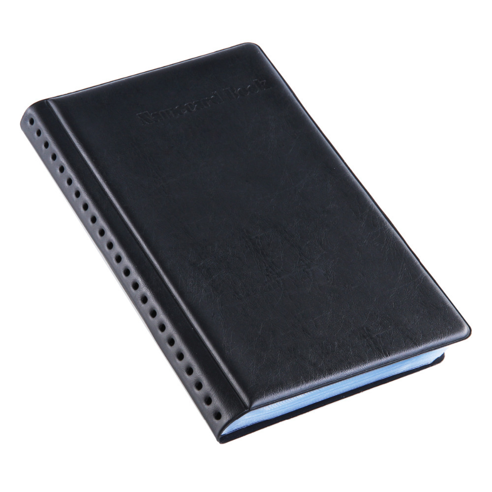 Deli no8463 leather surface commercial business card book pouch deli no8463 leather surface commercial business card book pouch name card organizer holder 180 cards in card stock from office school supplies on reheart Image collections