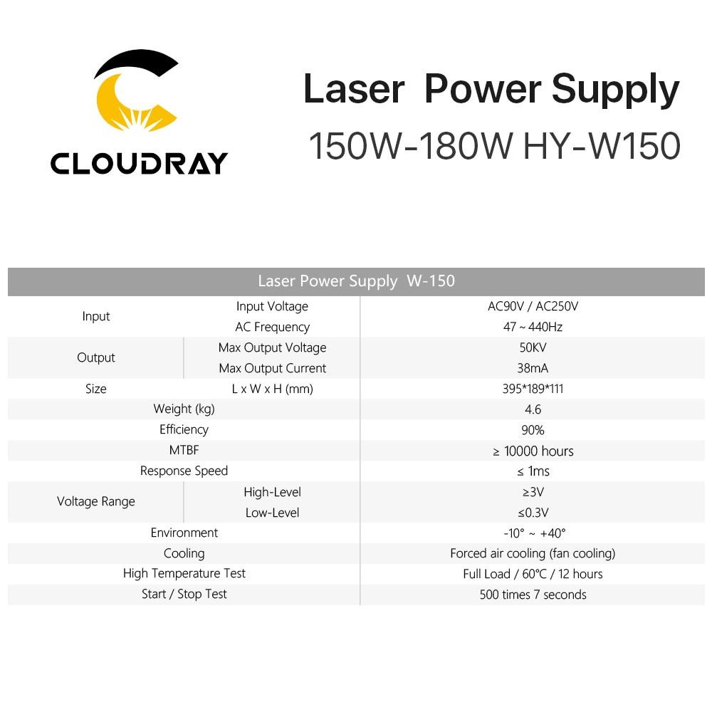 Cloudray 150-180W CO2 laseriga toiteallikas CO2 lasergraveerimisega - Puidutöötlemismasinate varuosad - Foto 6