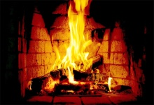 Laeacco Fireplace Fire Blazing New Year Photography Background Customized Photographic Backdrops For Photo Studio