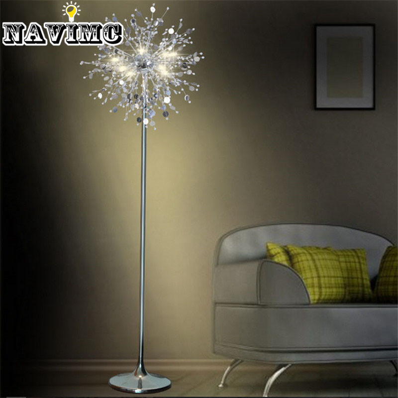 Buy Crystal Living Room Stand Floor Lamp Modern Flower Floor