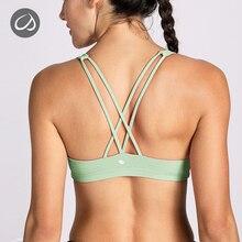 CRZ YOGA Sport Fitness Bra Vest Women Yoga Bra Top Solid Workout Athletic Underwear