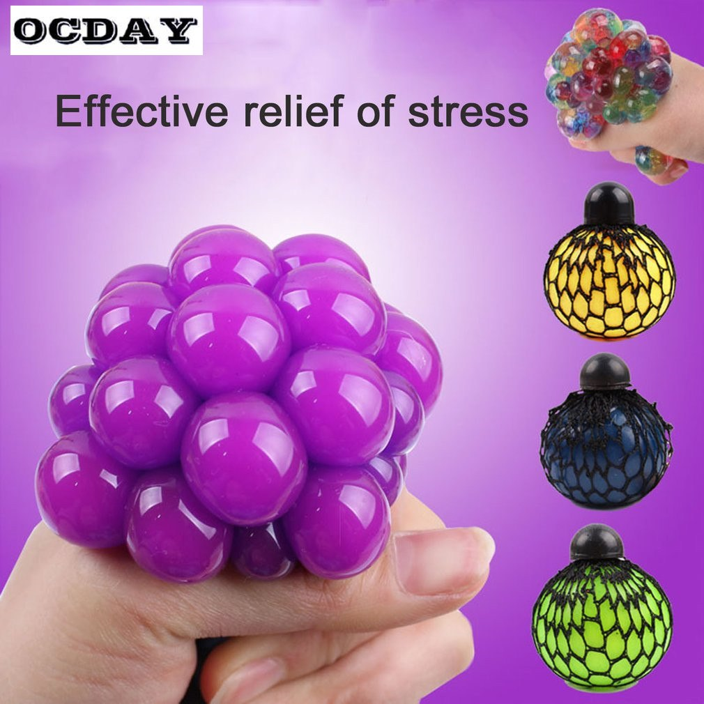 OCDAY Fun Splat Grape Vent Balls Squeeze Stresses Reliever Toy New Anti Stress Ball Novelty Funny Gift Gadgets Ball Game