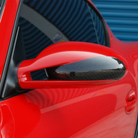911 997 Carbon Fiber Car Outside Wing Mirror Trim Rearview Mirror Cover 3M 2005 2006 2007 2008 2009 2010