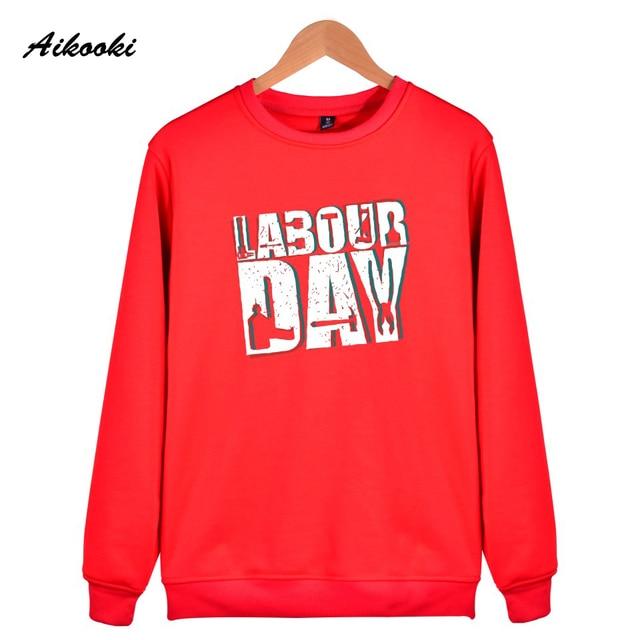6cb71142ac0 Aikooki Mode Arbeid dag Print Sweatshirt Hoodies Mannen Vrouwen Hiphop  Herfst Winter Capless Sweatshirt Mannelijke Vrouwelijke