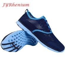 Women Breathable Running Shoes Plus Szie 36-47 Summer 2018 Beach Water Shoes Men Mesh Walking Shoes Sport Sneaker zapatos
