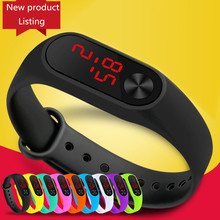 Fashion Men Women Casual Sports Bracelet Watches White LED Electronic Digital Candy Color Silicone Wrist Watch forChildren Kids цена