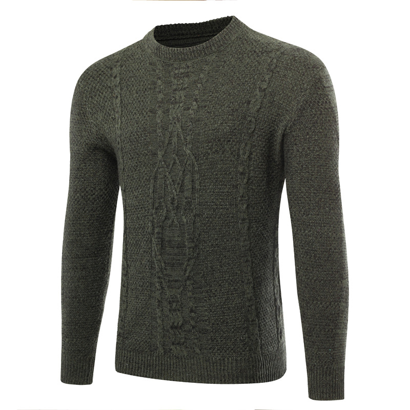New Men's Foreign Trade 3D Hollow Sweater