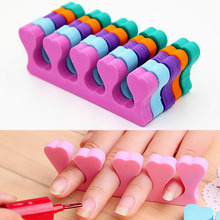 10pcs Soft Foam Sponge Toe Separator Finger Separator Nail Art Tools Feet Care Manicure Pedicure Flexible UV Gel Polish Coating