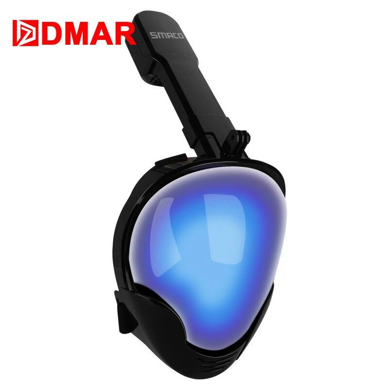 DMAR masque de plongée Anti-buée pliable pour enfants masque de plongée sous-marine pour adultes