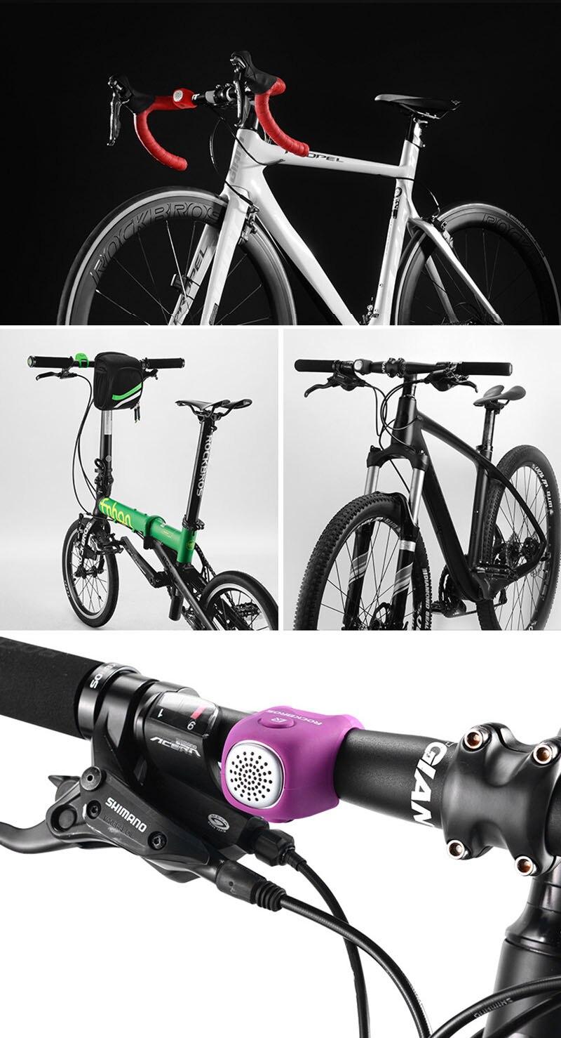 Cycling Bike Electric Bell Rainproof Bells MTB Road Bicycle Handlebar Silica Gel Bell Super Loud Safety Bicycle Alarm RK0043 (17)