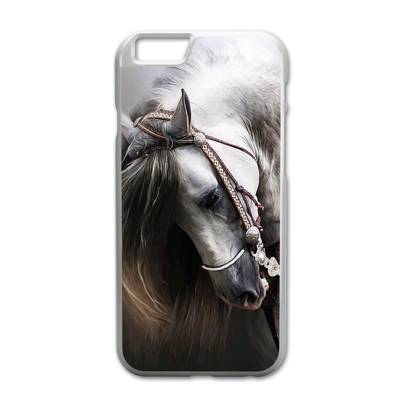 White Horse Printed Case for iPhone 4 4S 5 5S 5C 6 6S Plus Touch 5 Samsung A3 A5 A7 E5 E ...