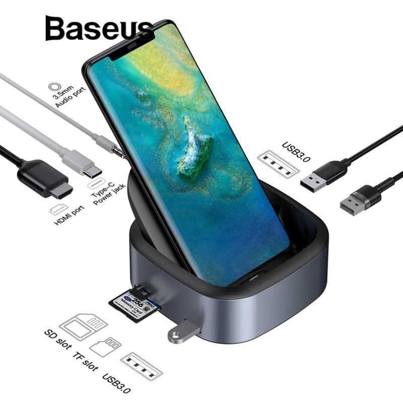 Baseus Type C Phone HUB Multi USB C Docking Station USB Tpye C HUB HDMI Dock