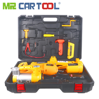Mr Cartool Car Electric Jack Kit 3 Ton12v Scissor Lift with Emergency Power Supply Electrics Wrench Air Pump Auto Jacks