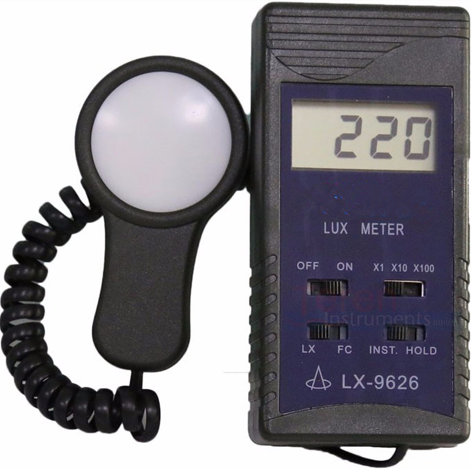 LX-9626 Digital Lux Tools With Meter Measuring Range 0-50000LUX 0-5000FC Low Voltage Research Teaching Metallurgical