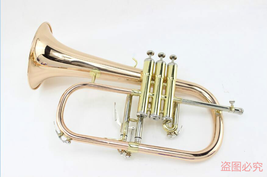 MARGEWATE Phosphor Copper Flugelhorn Brand Quality Professional Bb Trumpet Monel Valves Flugelhorn With Case Free Shipping professional silver gold plated marching french horn bb monel valves with case
