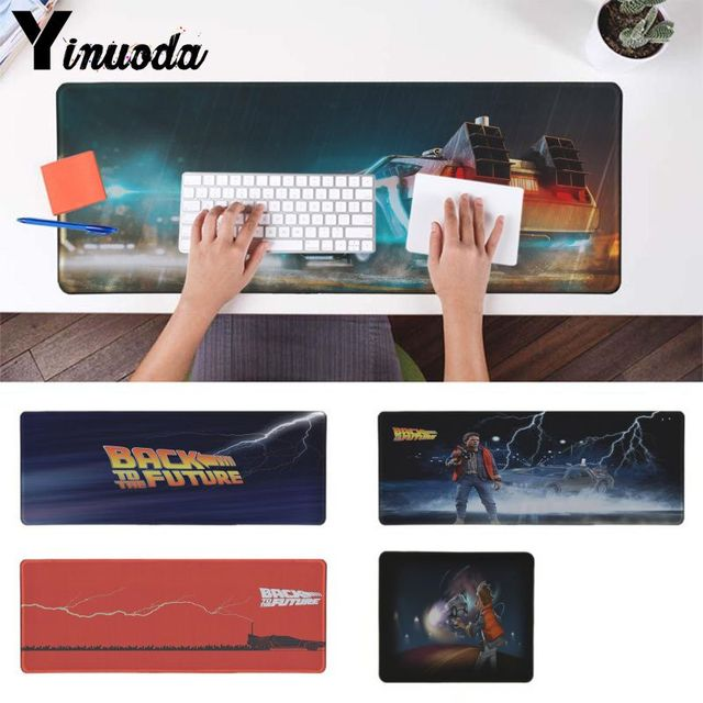 Yinuoda Hot Sales Back to The Future Rubber Mouse Durable Desktop Mousepad Computer Laptop Anime Mouse Mat pad mouse gamer
