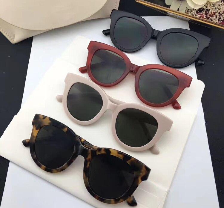 New Fashion Mujeres Con Estilo Cat Eye Sunglasses Women Gentle Brand Heig Designer Vintage Sun Glasses