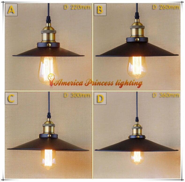 Edison Loft Style Vintage Industrial Retro Pendant Lamp Restaurant Bar light Attic Bookstore Pendant Light E27 AC110 240V