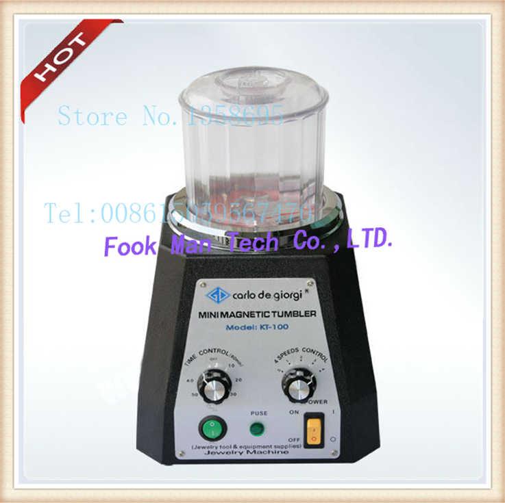 New! KT-TUMBLER MAGNETIC 220 V Mini Magnetic Tumblers Trang Sức Làm Nguồn Cung Cấp Đánh Bóng Đồ Trang Sức Máy chất lượng Hàng Đầu