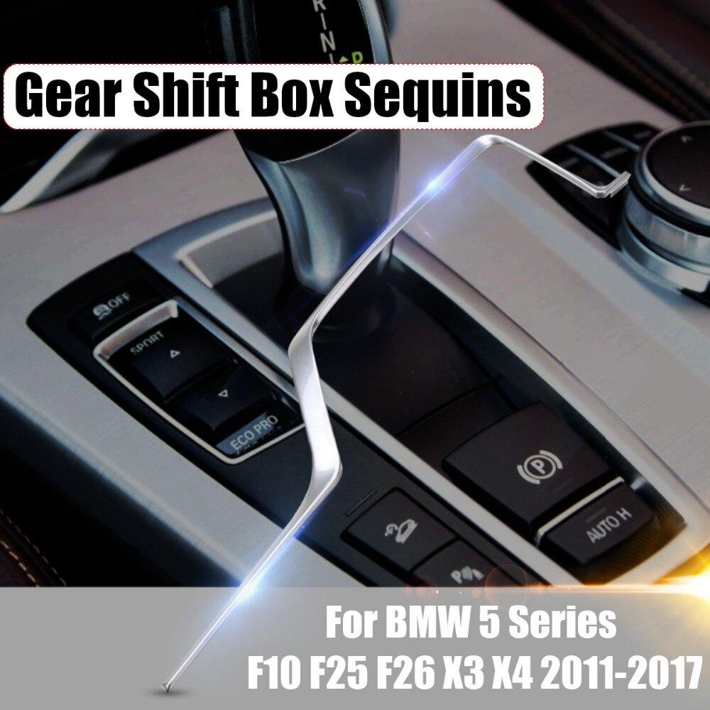 Chrome Interior Gear Cover Trim Frame Accessories o For Toyota RAV4 2013-2018