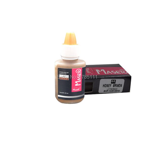 1 Garrafa de 44 MEL MARROM 10 ML Biomaser profissional maquiagem permanente lábio sobrancelha tatuagem tinta pigmentada micro