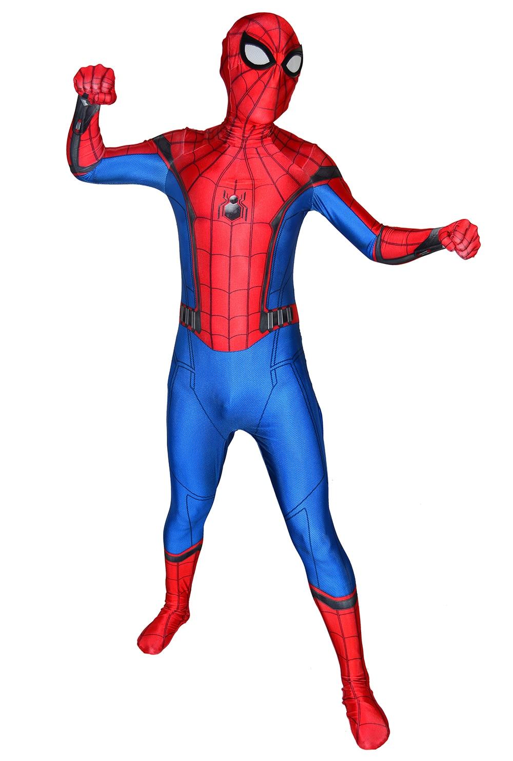 Spider-Man Homecoming Cosplay Costume 3D Printed Spiderman Homecoming Spandex Suit Newest Spiderman Halloween Bodysuit