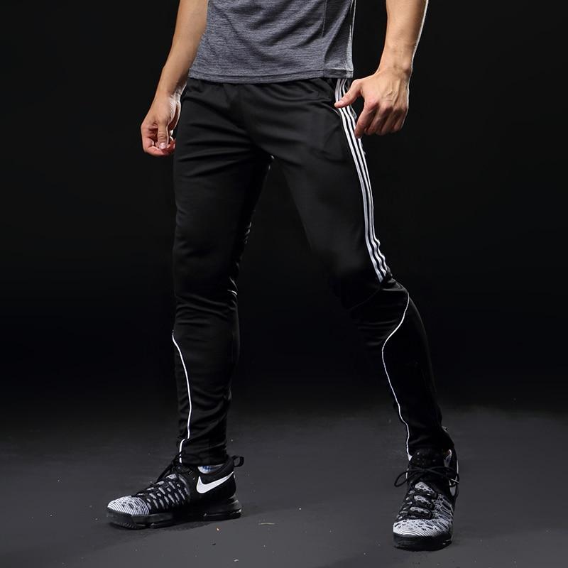 Pantalons de course Sport hommes avec poches athlétique Football Football formation pantalon élasticité Legging jogging Gym pantalon 319