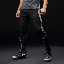 Sport Running Pants Men With Pockets Athletic Football Soccer Training Pants Elasticity Legging jogging Gym Trousers 319