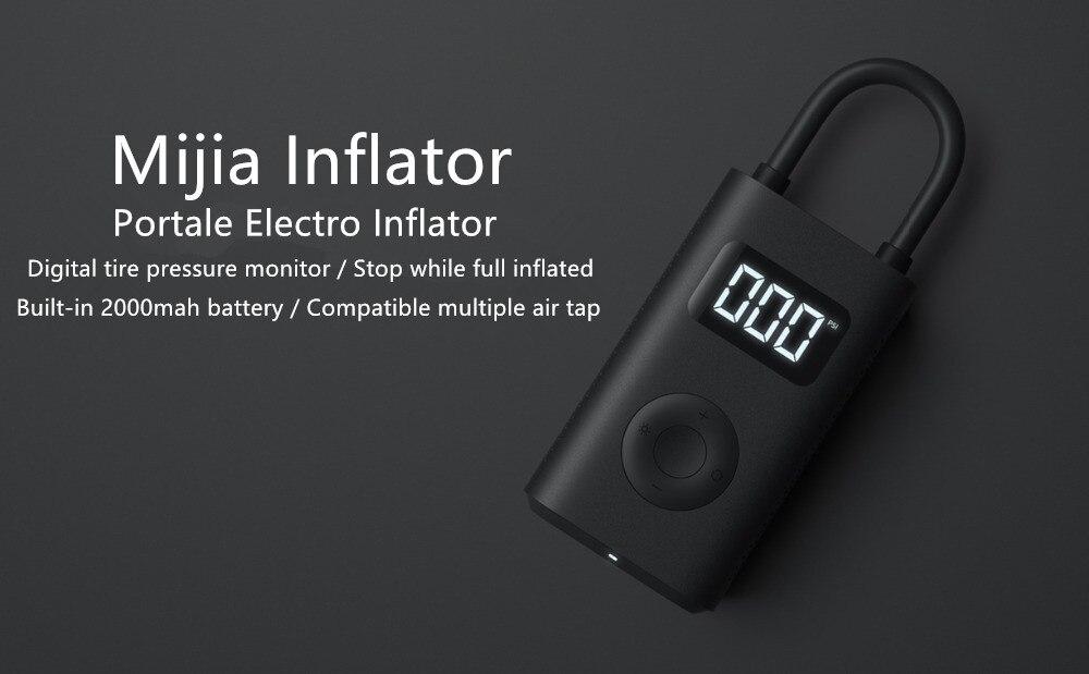 (Prévente) Xiaomi Mijia Portable intelligent numérique détection de pression des pneus pompe de gonflage électrique pour vélo moto voiture Football - 4