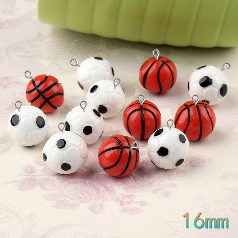 Charm Tibetan Silver Football Basketball Soccer Sport Style DIY Jewelry Making