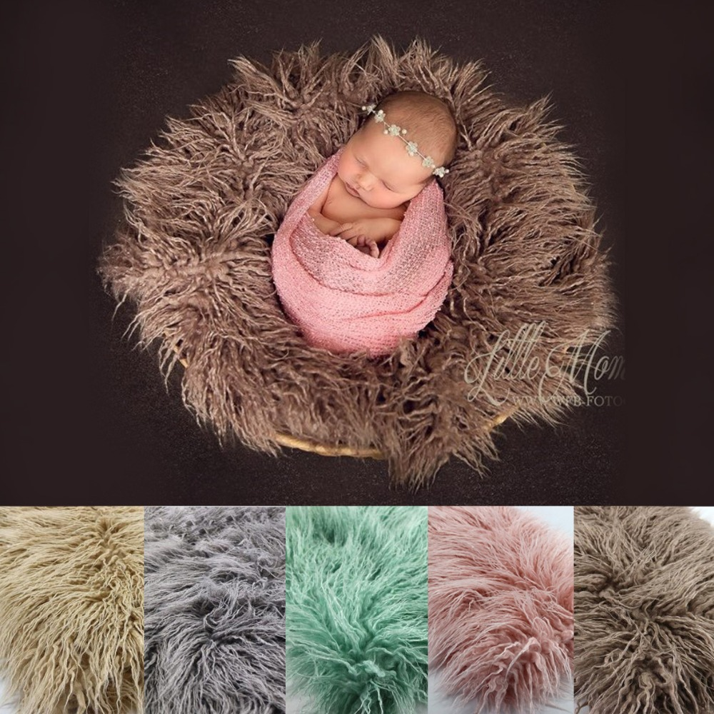 Newborn props faux fur basket filler stuffer photo props baby fotografia Photography backdrops background blanket fleece fotografia newborn photography props blanket letter racks fences photography backdrops background