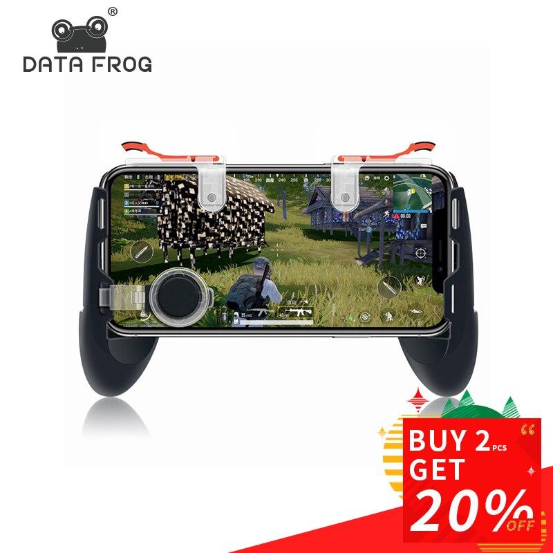 Daten Frosch Für Pubg Spiel Gamepad Für Handy Spiel Controller l1r1 Shooter Trigger Feuer Taste Für IPhone Für Messer aus