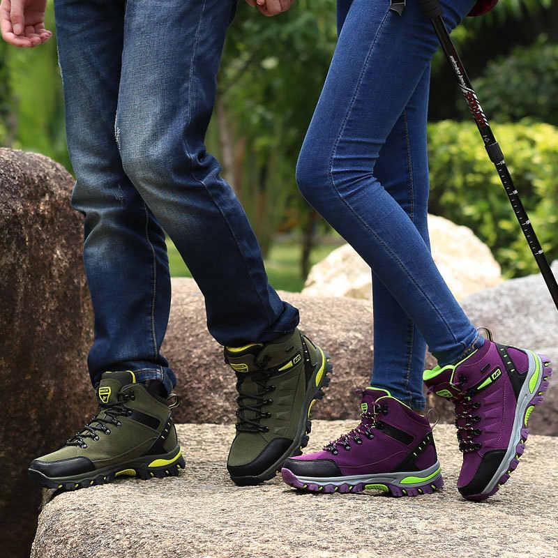 Осенне-зимние рабочие ботинки; мужские уличные Нескользящие ботильоны; Мужская обувь; Повседневная модная обувь на шнуровке; Botas Mujer
