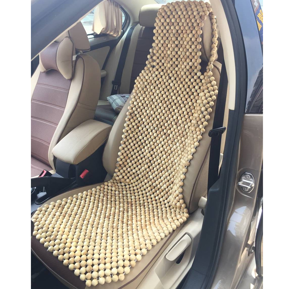 Universal Car Seat Cushion Pad Natural Camphor Wood Massage Comfortable Car Seat Cover Summer Use  Interior Accessories