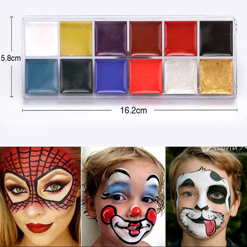 Drawing Toys 12 Colors/Set Oil Paint Face Body Painting Pigment Art Theme Party, Halloween, Fancy Dress Party Painting Toys