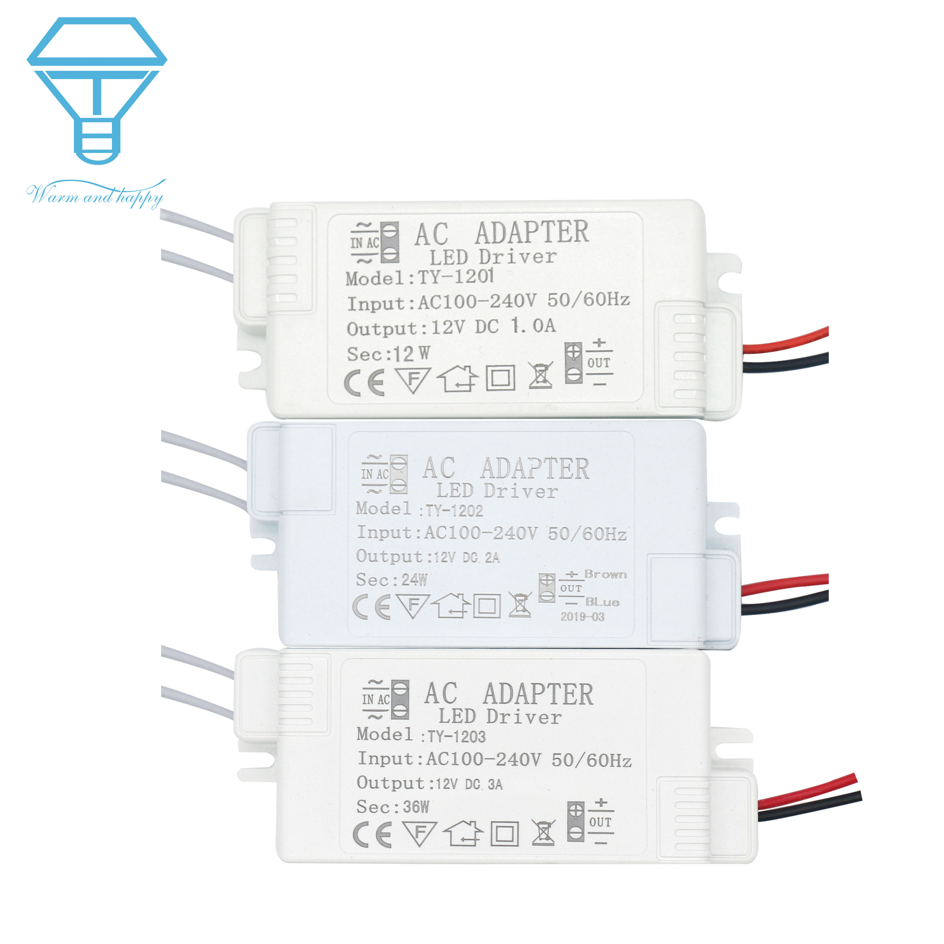 led driver 12v power supply with case for leds 220 to 12v 1a2a3a power supply control lighting