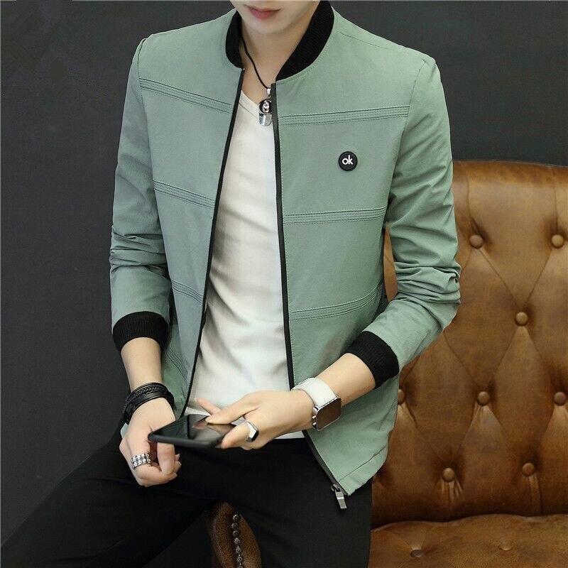 Men 'S Casual Premium Varsity Baseball Jacket College Style Letterman Sweater Coat Male Jacket 2019 Spring New Style Korean-Styl 15