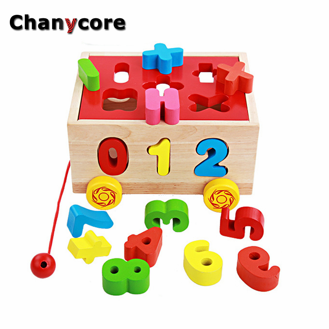 Toys For Learning Numbers : Kids colorful block matching sorting intelligence ydsk