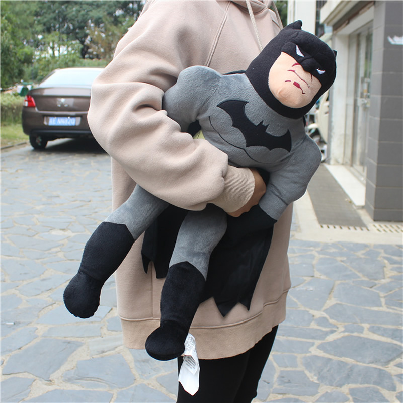 Free Shipping 1pcs 60cm Superhero Batman Plush Toys 23.6'' Batman Figure Stuffed Plush Soft Doll For Boy Gift