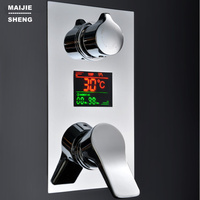 Digital in wall 3 way shower mixer controller with display concealed bath shower panel Intelligent shower mixer shower faucet