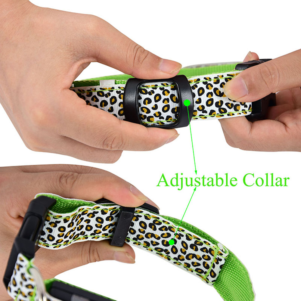 LED Dog Collar - Leopard Style 4