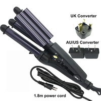 Electric Professional Ceramic Hair Curler Triple Curling Iron Roller Curls Wand Waver Cheap Fashion Styling Tools