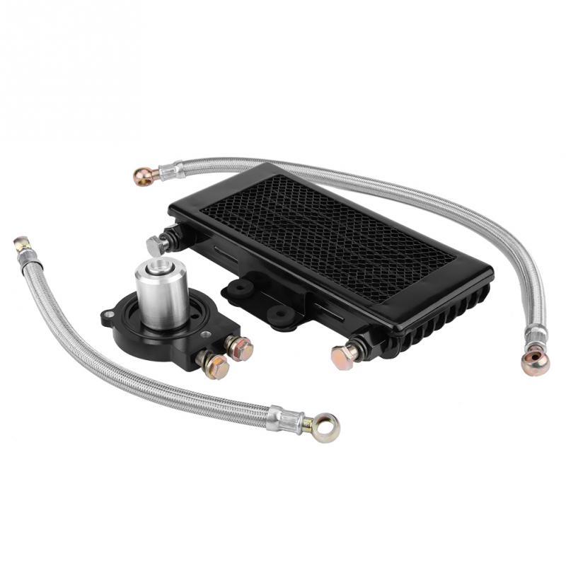 Universal 125ml Motorcycle Oil Cooler Engine Oil Cooling Radiator System Kit for BUCCANEER 250i New Arrive